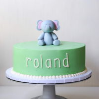 Elephant Birthday Cake elephant birthday cake - vanilla cake filled with fresh strawberries and whipped cream, covered with buttercream and topped with a handmade...