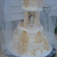Eli And Naima's Wedding Cake My family and I surprised my nephew and his bride with this old fashioned wedding cake this past weekend. I tried to recreate a wedding a...