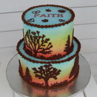 "Fall Theme Birthday Cake My daughter saw a cake like this a week before her party at the local county fair and said, ""I want my cake to look like that!""..."