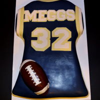 Football Jersey Cake Birthday Cake