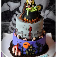 Halloween Themed 6Th B'day Cake !!   Halloween Themed 6th B'day Cake !!