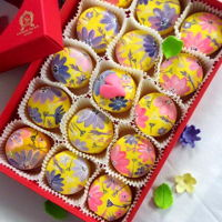 Hand Paint Macarons Floral And Love Hand paint macarons Floral and love