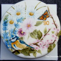 Hand-Painted Bird Watching A cake designed for a 90 year old who loves to watch the birds in her garden.