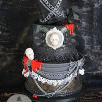 Happy Halloween A combined birthday and Halloween cake for a lovely lady's hubby.I am a bit squeamish so it is pretty tame. I was inspired by the work...
