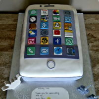 I Phone 21St Birthday  superstar2 & I made this cake for my Great Grandsons 21st birthday. The date on the calendar is the date of his birthday, the clock is...