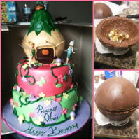 Icing Smiles Cake-Tinkerbell Cake My first call to action for Icing Smiles!Bottom tier is chocolate cake filled with peanut butter buttercream covered in ganacheMiddle is...