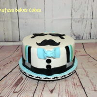 Moustache Cake This is the cake i made for a pretty little boy!! You can see more photos at my facebook page: https://www.facebook.com/natasabakescakes1/?...
