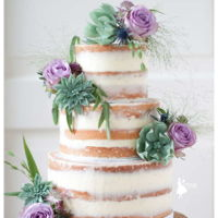 Naked Cake With Sugar Succulents This naked cake is dressed up a little bit ;-) With a combination of fresh grasses and some handmade succulents! I love to make them a see...