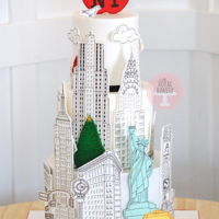 New York Landmark Cake A cake for a New York lover turning 50. It is based on the beautiful London landmark cake by Rachelle's, but I added more landmarks...