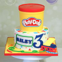 Play-Doh Cake Happy Birthday Riley!! We were so exicted when we got notified from Icing Smiles, Inc. on the theme for Riley's birthday celebration....