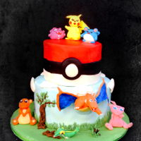 Pokémon Birthday Cake Cake for my great great-nephew. He was very happy with it.