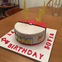 Pokemon Cake Blackout chocolate cake with Massimo fondant. All figures hand made with gum paste.