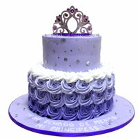 Purple Ombre Cake With Crown Purple ombre cake with crown