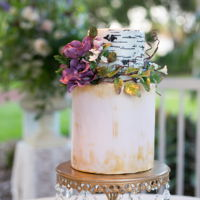 Rustic Chic Wedding Cake done for a rustic chic wedding photo shoot. Bottom cake an organic chocolate cake filled with Earl Grey buttercream, top cake pink...