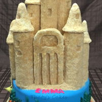 Sand Castle Cake all edible.