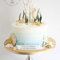 Sea Themed Cake I had the opportunity to make this Sea themed bridal shower cake for a special bride who was having a destination wedding. It is a...