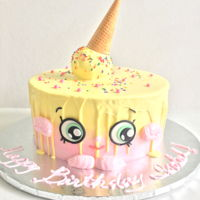 Shopkins Ice Cream Cake Kate Buttercream with fondant details