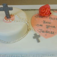 Sister Julian's Jubilee Cake   Made for a Nun celebrating 25 years of service to God and her church.