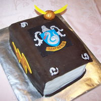 Slytherin Book Plate Decorated Cake   Fondant/Sugar Paste Book Plate decorated with Harry Potter inspired Slytherin design.