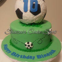 Soccer Ball Cake Soccer Ball made from rice krispies
