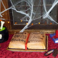 Spell Book Halloween Party Cake