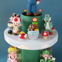 Super Mario Cupcake Tower Made for Cake International competition. Happy to have received a silver medal!!!