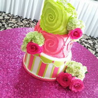 Topsy Turvy Fun Bright Cake Topsy turvy fun bright cake for a great birthday bash! Liz Huber @Cakery Creation