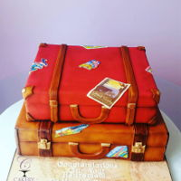 Traveling Suitcase Cakes   Traveling Suitcase cakes by Liz Huber Cakery Creation
