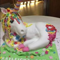 Unicorn Cake   Unicorn cake,Quite big this one 17 inches in length and 16 inches in height to the top of the horn.