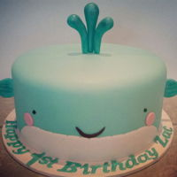 Whale Cake A little boy's birthday cake