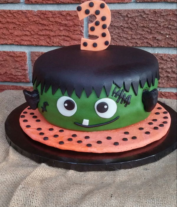 Frankenstein Birthday Cake