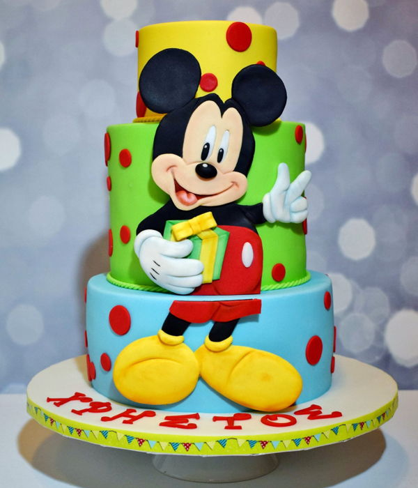 Mickey Mouse Birthday Cake.