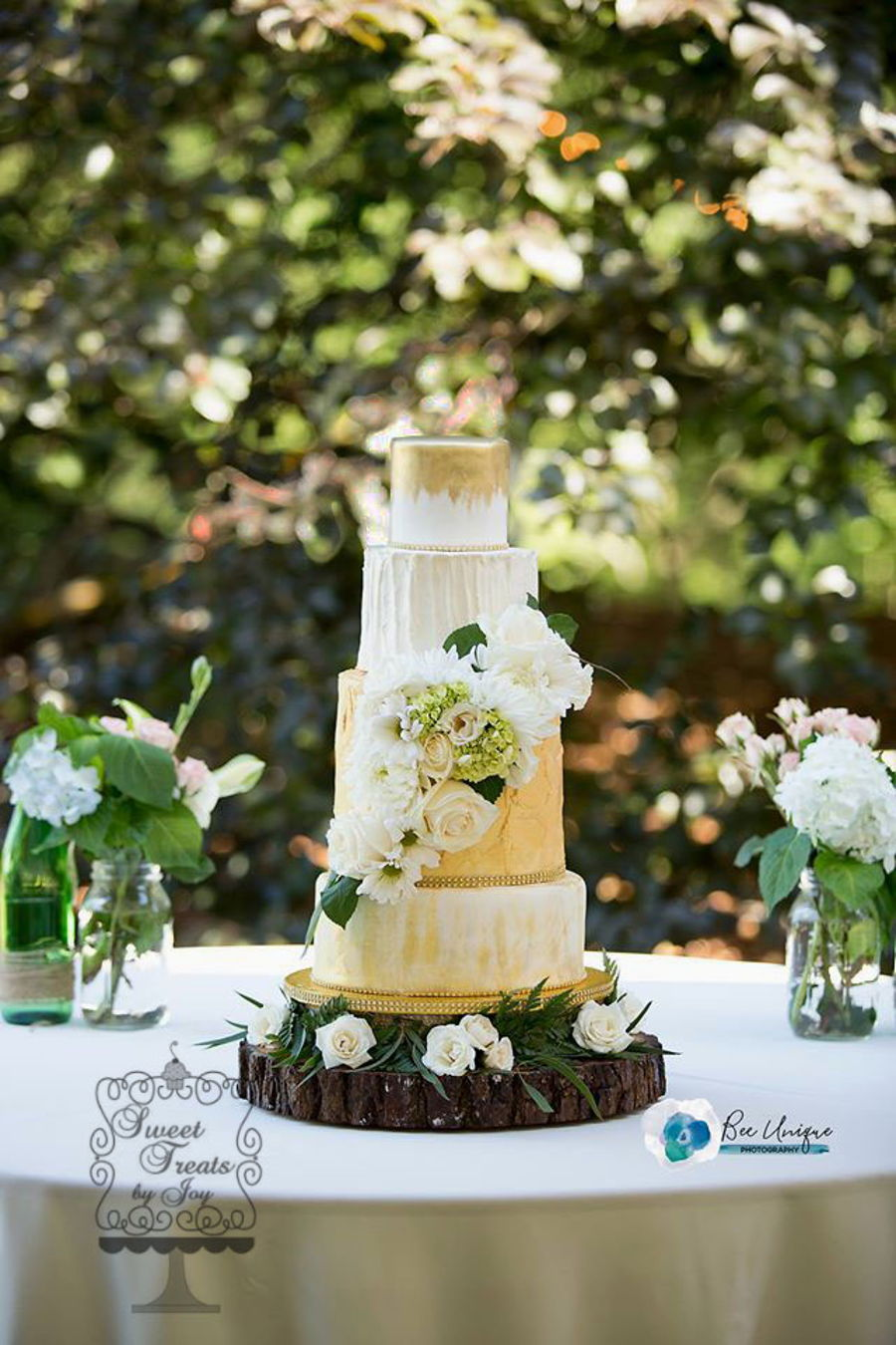 Boho Chic With Gold on Cake Central
