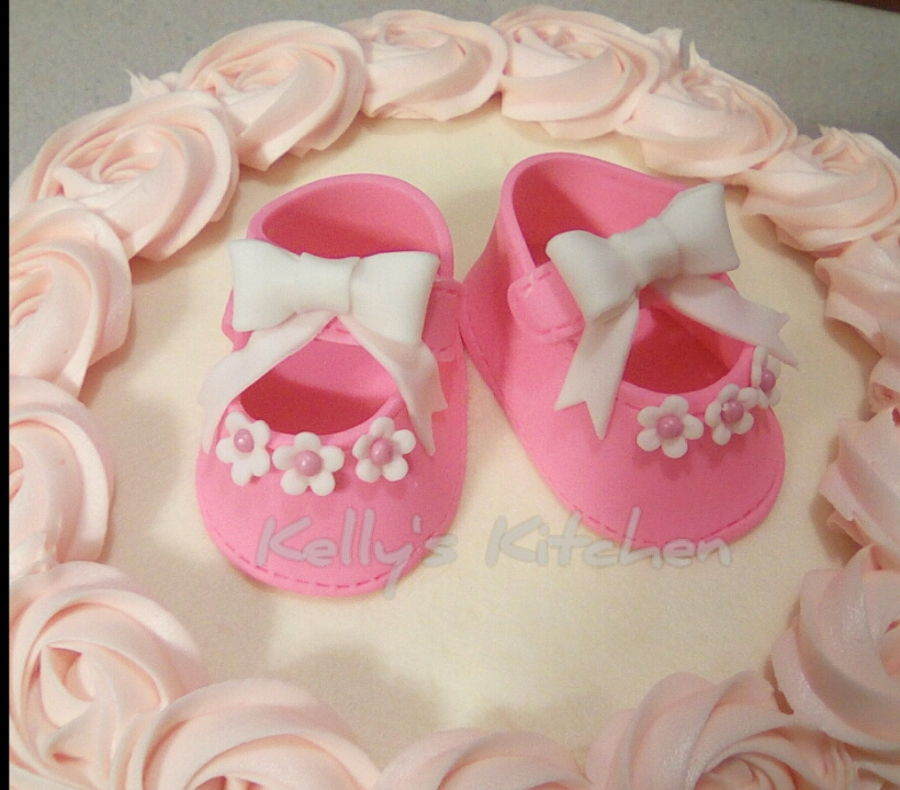 rosette baby shower cake and cupcakes for a baby shower today i m