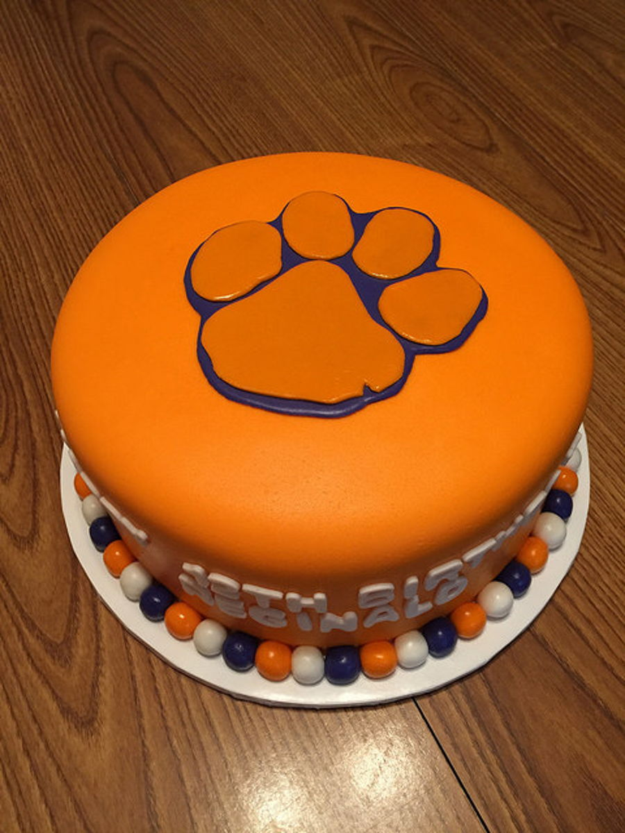 Surprising Clemson Paw Birthday Cake Cakecentral Com Funny Birthday Cards Online Eattedamsfinfo