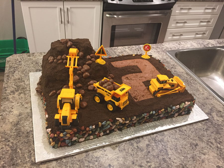 Digger Birthday Cake Images