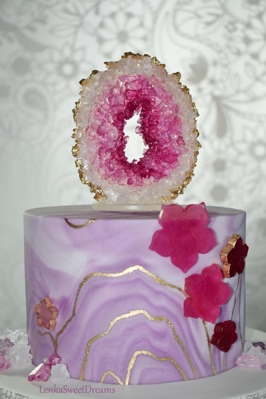Geode Cake Cakecentral Com