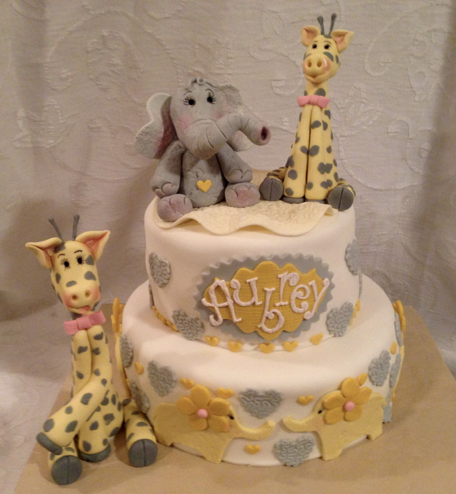 Baby Shower Giraffe Images ~ Giraffe baby shower cake elefant gumpaste