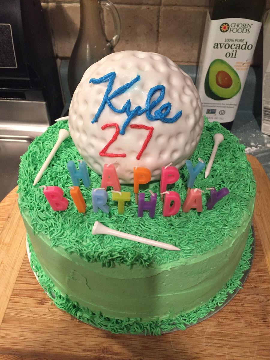 Peachy Golf Ball Cake Cakecentral Com Personalised Birthday Cards Arneslily Jamesorg