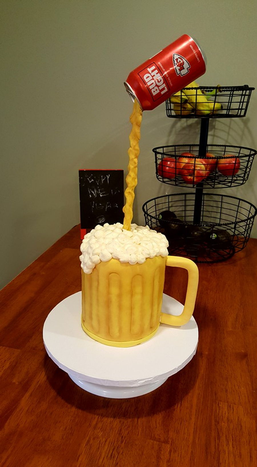 Gravity Defying Beer Mug Cake Cakecentral Com