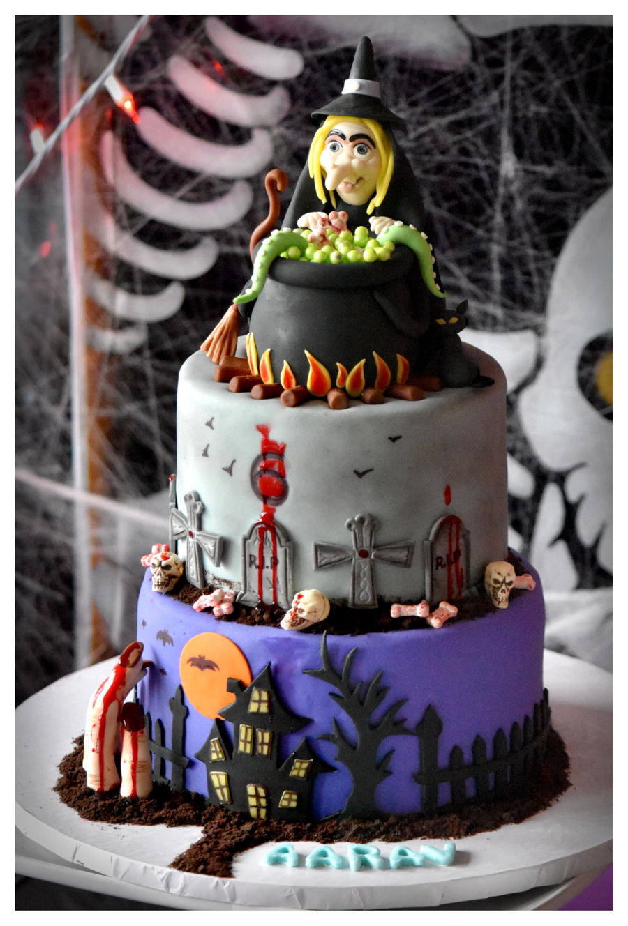 Halloween Themed 6th B Day Cake Cakecentral Com