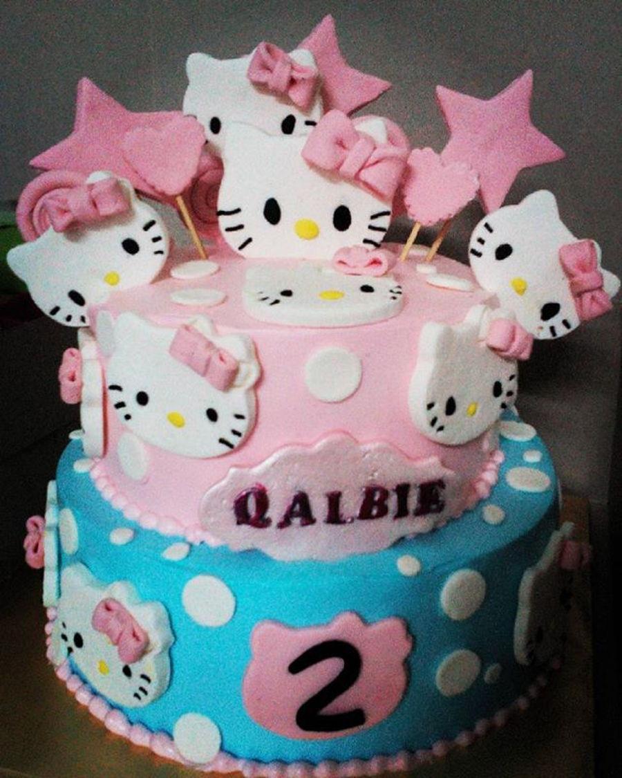 Hello Kitty 2 Tier Cake CakeCentralcom