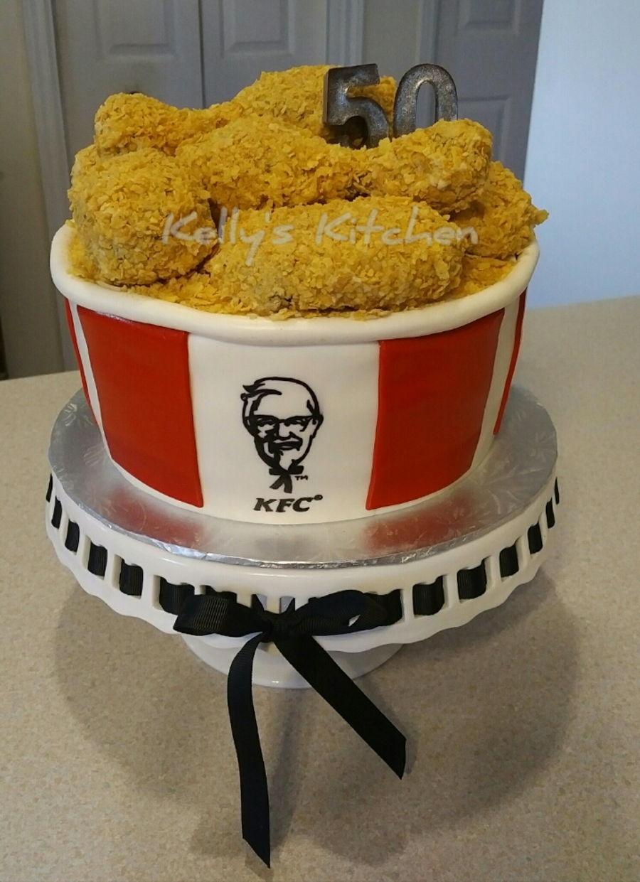 Kfc Bucket Of Chicken Cake Cakecentral
