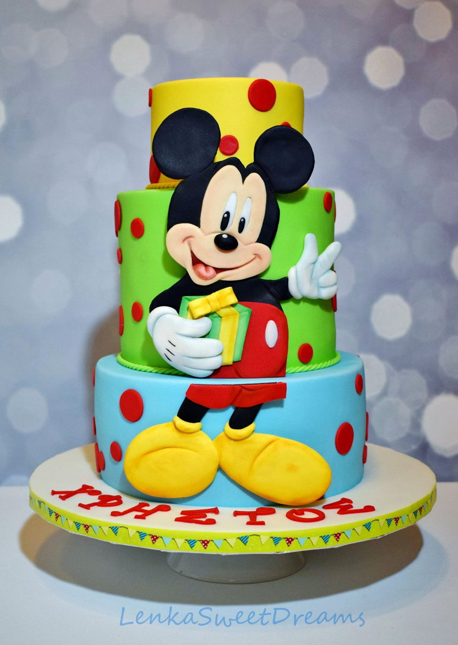 Mickey Mouse Birthday Cake. - CakeCentral.com