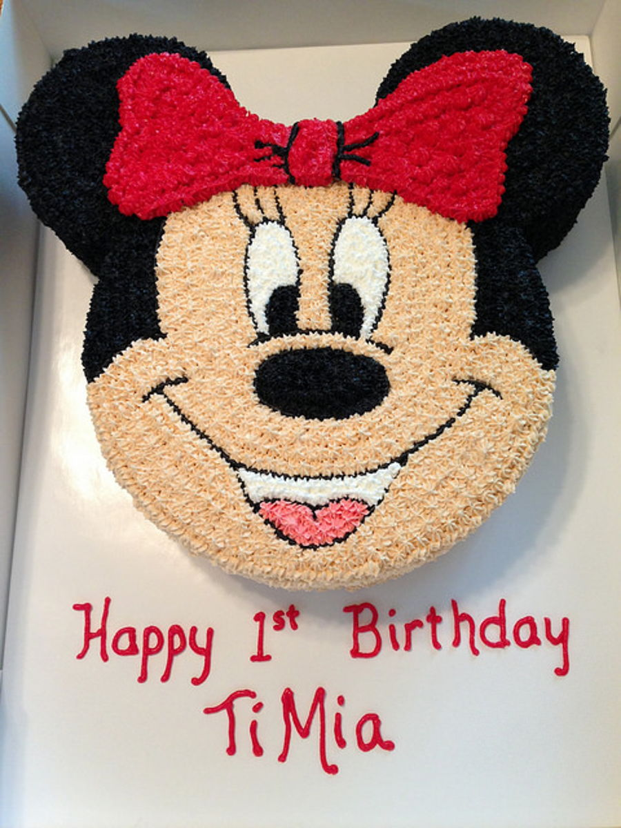 Remarkable Minnie Mouse Birthday Cake And Smash Cake Cakecentral Com Funny Birthday Cards Online Alyptdamsfinfo