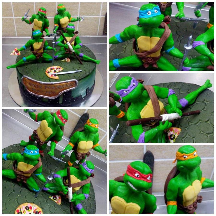 Ninja Turtle Cake Topper Tutorial