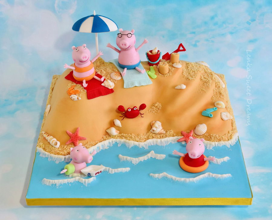 Peppa The Pig At The Beach Cake Cakecentral Com