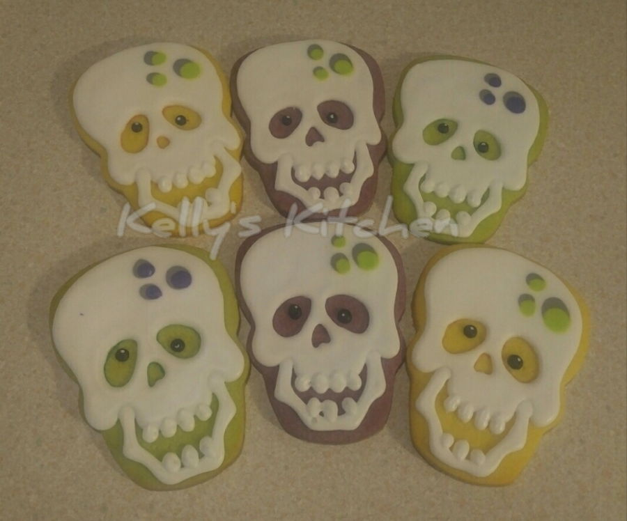 Skull Halloween Sugar Cookies Cakecentral Com