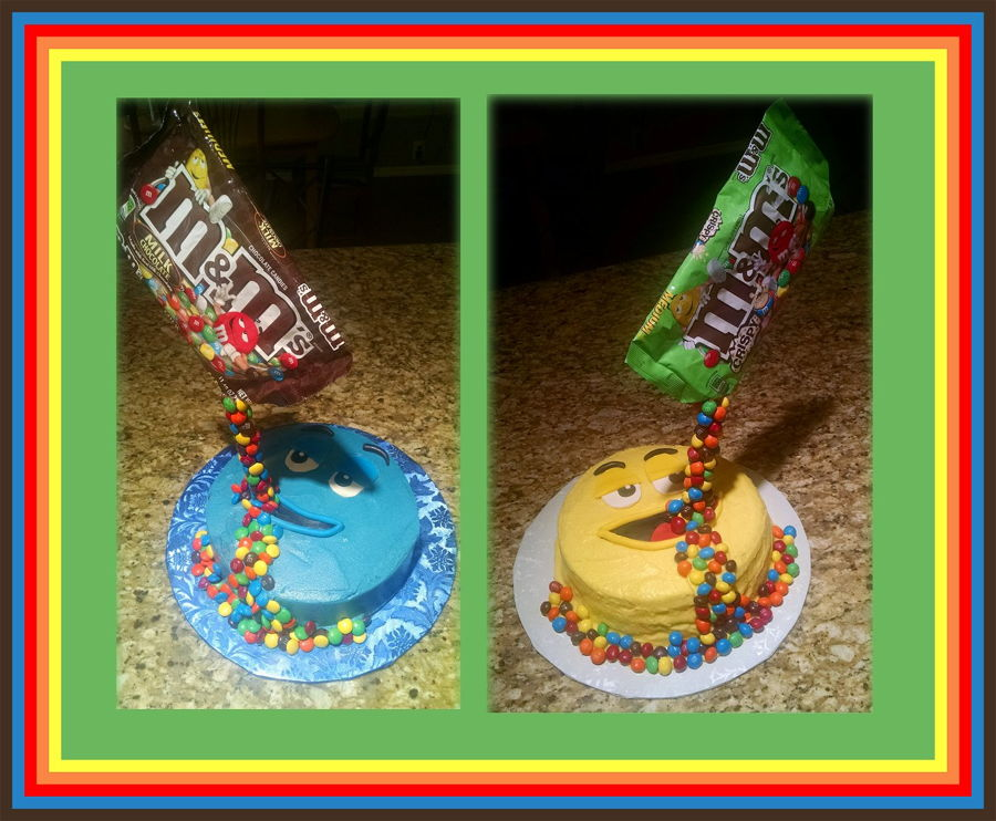 Spilling M&ms on Cake Central