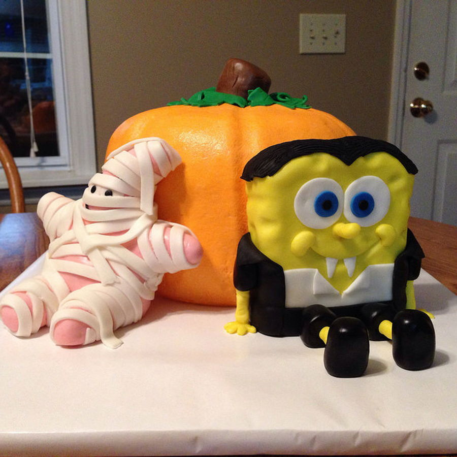 Spongebob Squarepants Halloween Birthday Cake